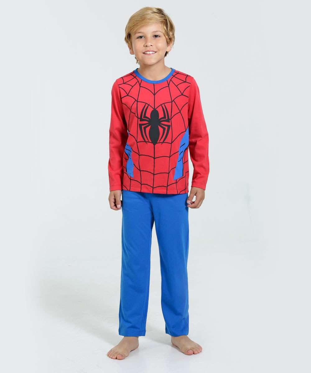 227b6203f Pijama infantil Homem Aranha Marvel