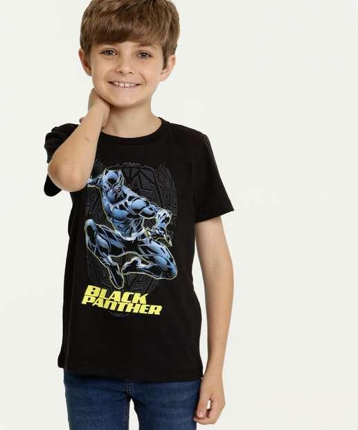 Image_Camiseta Infantil Estampa Pantera Negra Manga Curta Marvel