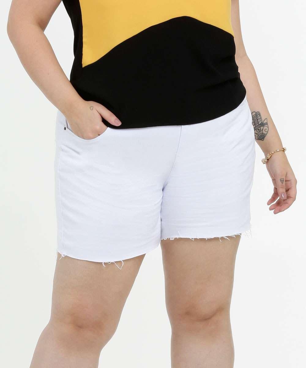 Short Feminino Sarja Bolsos Plus Size Marisa