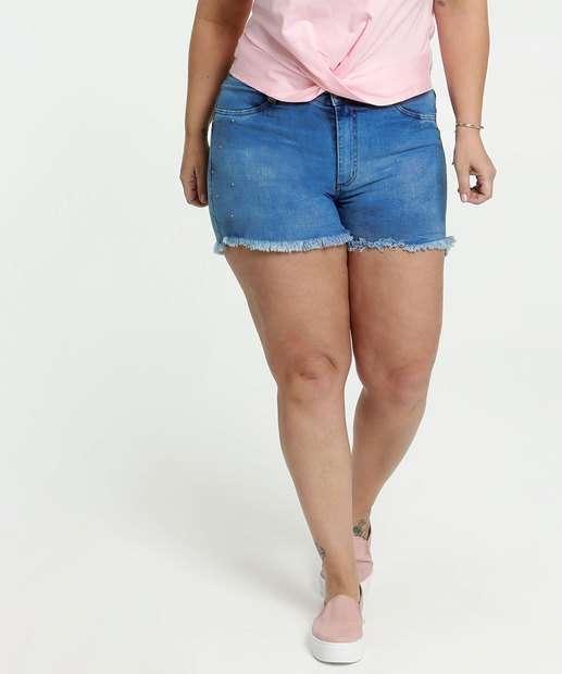 Image_Short Feminino Jeans Tachas Plus Size