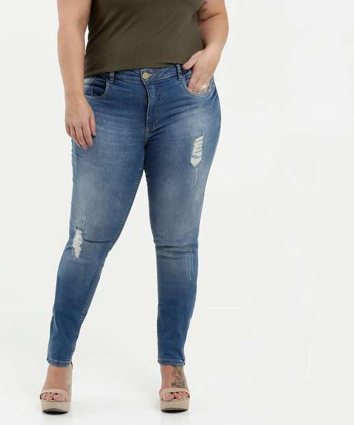 Image_Calça Feminina Jeans Destroyed Plus Size Razon