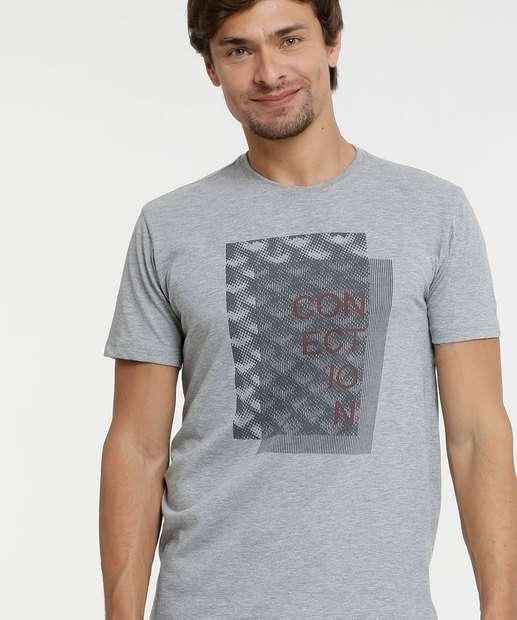 Image_ Camiseta Masculina Estampa Frontal Manga Curta