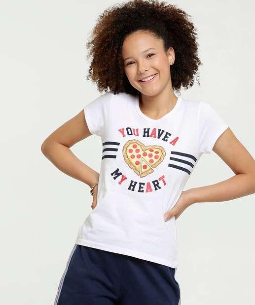 Image_Blusa Juvenil Estampa Pizza Manga Curta Brandili