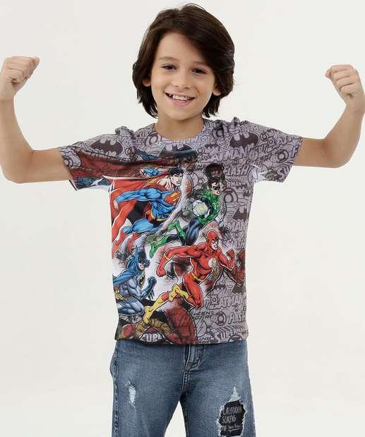 Image_Camiseta Infantil Estampa Heróis Liga da Justiça