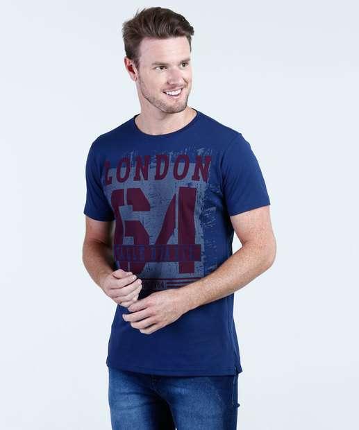 Image_Camiseta Masculina Estampa Frontal Manga Curta Aguia tex