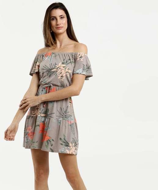 Image_Vestido Feminino Ombro a Ombro Estampa Tropical