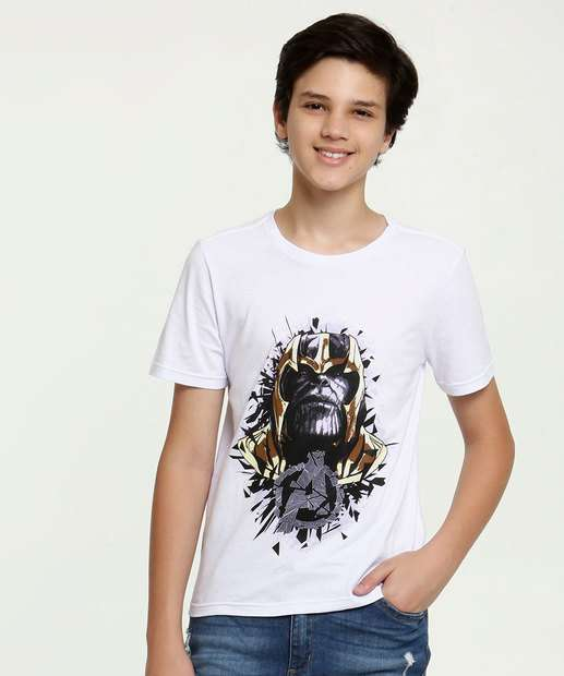 Image_Camiseta Juvenil Estampa Thanos Manga Curta Marvel