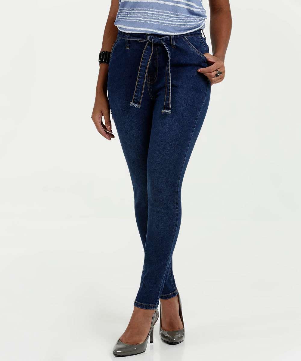 3b4262be3 Calça Feminina Jeans Clochard Skinny Marisa