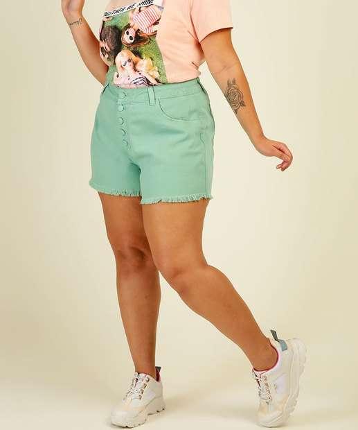 Image_Short Plus Size Feminino Sarja Cintura Alta