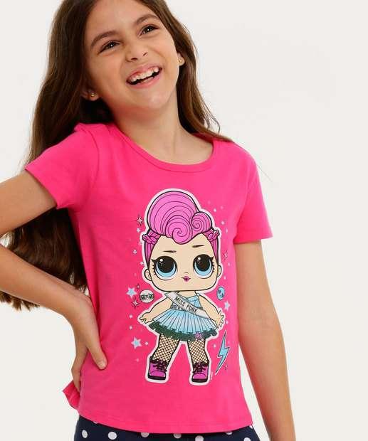 Image_Blusa Infantil Manga Curta Boneca Lol Tam 4 a 10