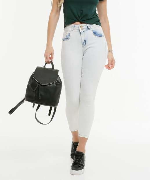 Image_Calça Cigarrete Feminina Bolsos Zune Jeans