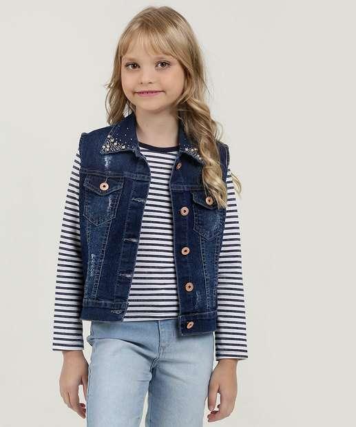 Image_Colete Infantil Jeans Puídos