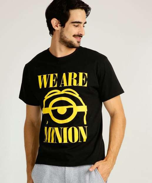 Image_Camiseta Masculina Estampa Minions Manga Curta Univesal