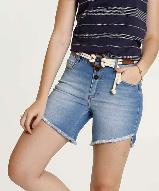 Image_Short Feminino Jeans Cinto Marisa
