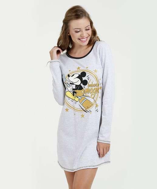 Image_Camisola Feminina Estampa Mickey Manga Longa Disney