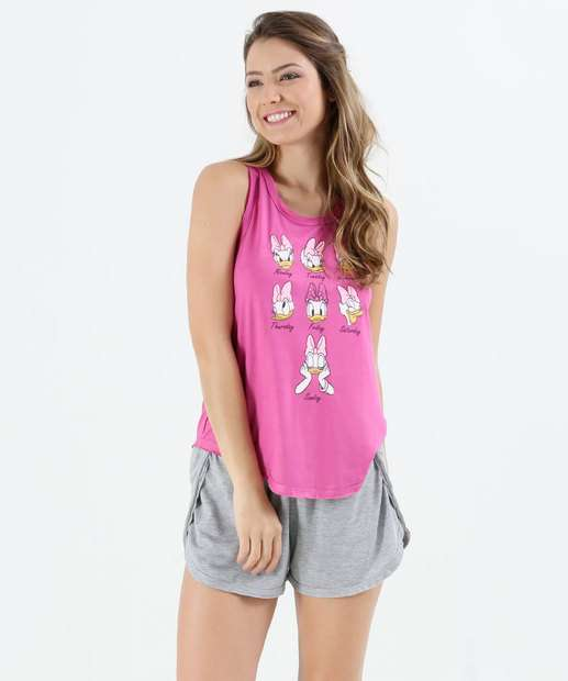 Image_Pijama Feminino Short Doll Margarida Disney