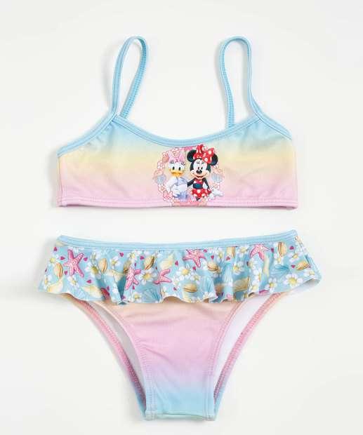 Image_Biquíni Infantil Estampa Minnie Margarida Babado Disney