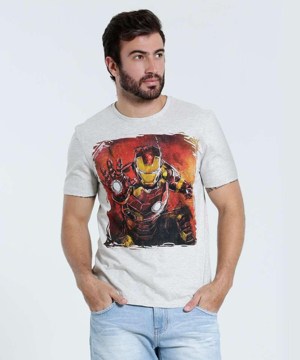 Image_Camiseta Masculina Estampa Homem de Ferro Marvel