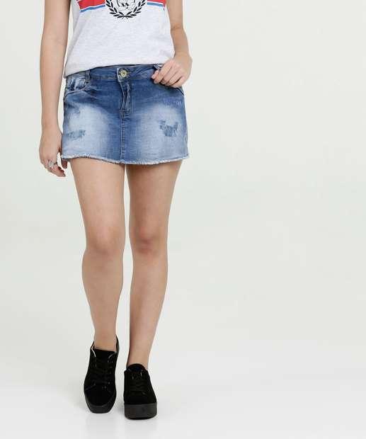 Image_Short Saia Juvenil Jeans Puídos