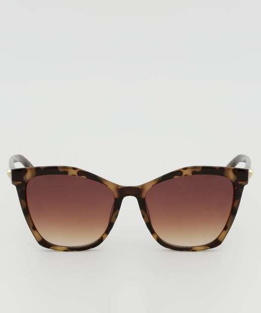 Image_Óculos de Sol Feminino Animal Print Quadrado Marisa