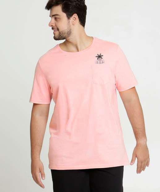 Image_Camiseta Masculina Estampa Frontal Plus Size Manga Curta