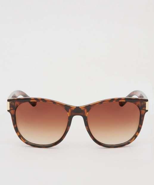 Image_Óculos de Sol Feminino Redondo Tortoise Shell Marisa