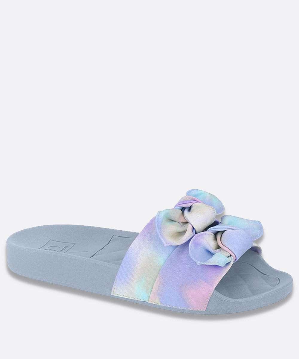 Chinelo Slide Feminino Nó Estampa Tie Dye Moleca