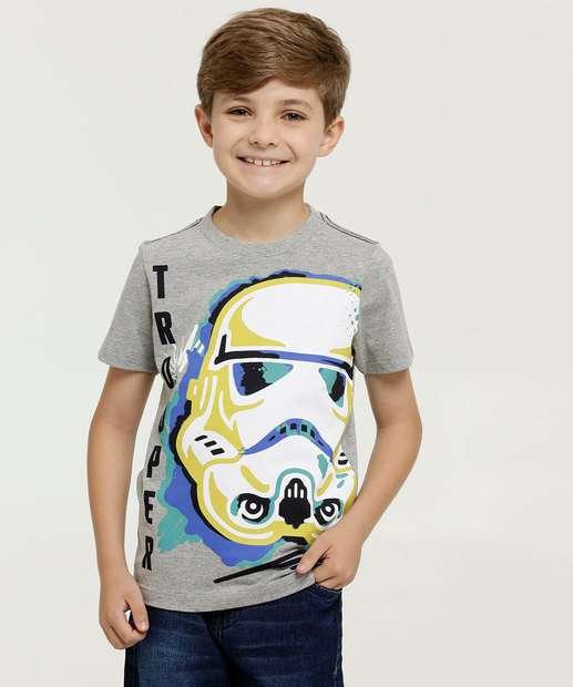 Image_Camiseta Infantil Star Wars Manga Curta Disney