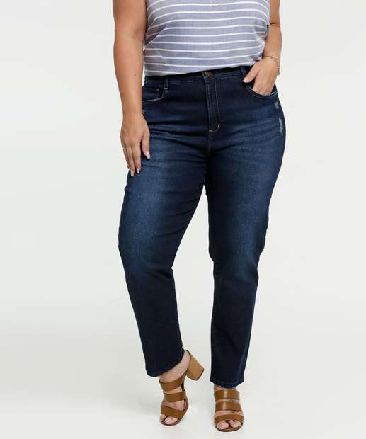 Image_Calça Jeans Cigarrete Puídos Feminina Plus Size Marisa
