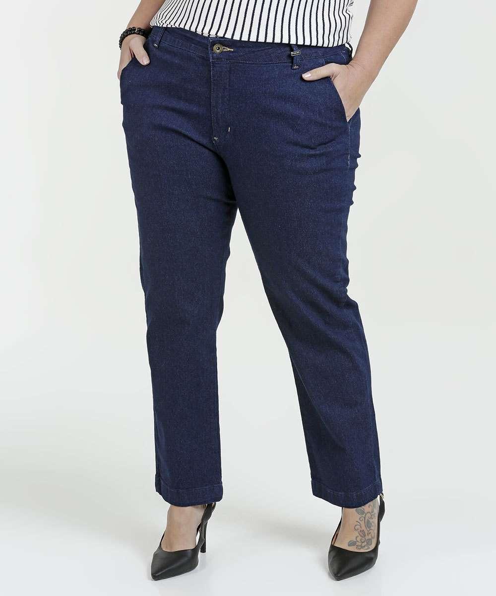 Calça Feminina Jeans Cigarrete Plus Size Razon