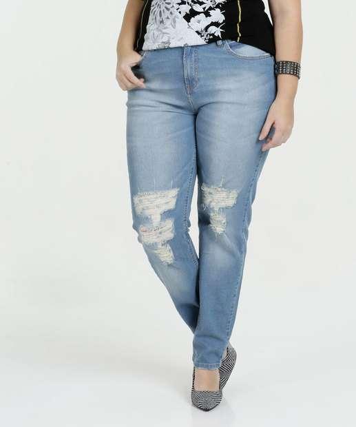 Image_Calça Feminina Jeans Plus Size Destroyed Marisa