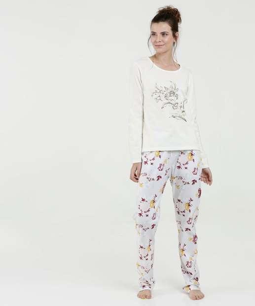 Image_Pijama Feminino Estampa Flores Manga Longa Marisa