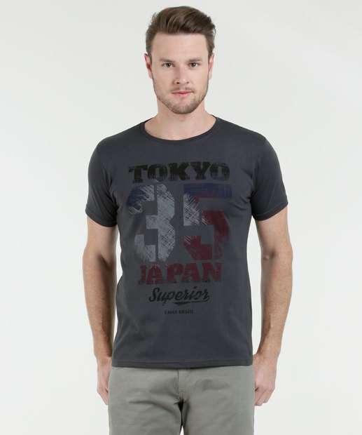 Image_Camiseta Masculina Estampa Frontal Manga Curta Águia Tex
