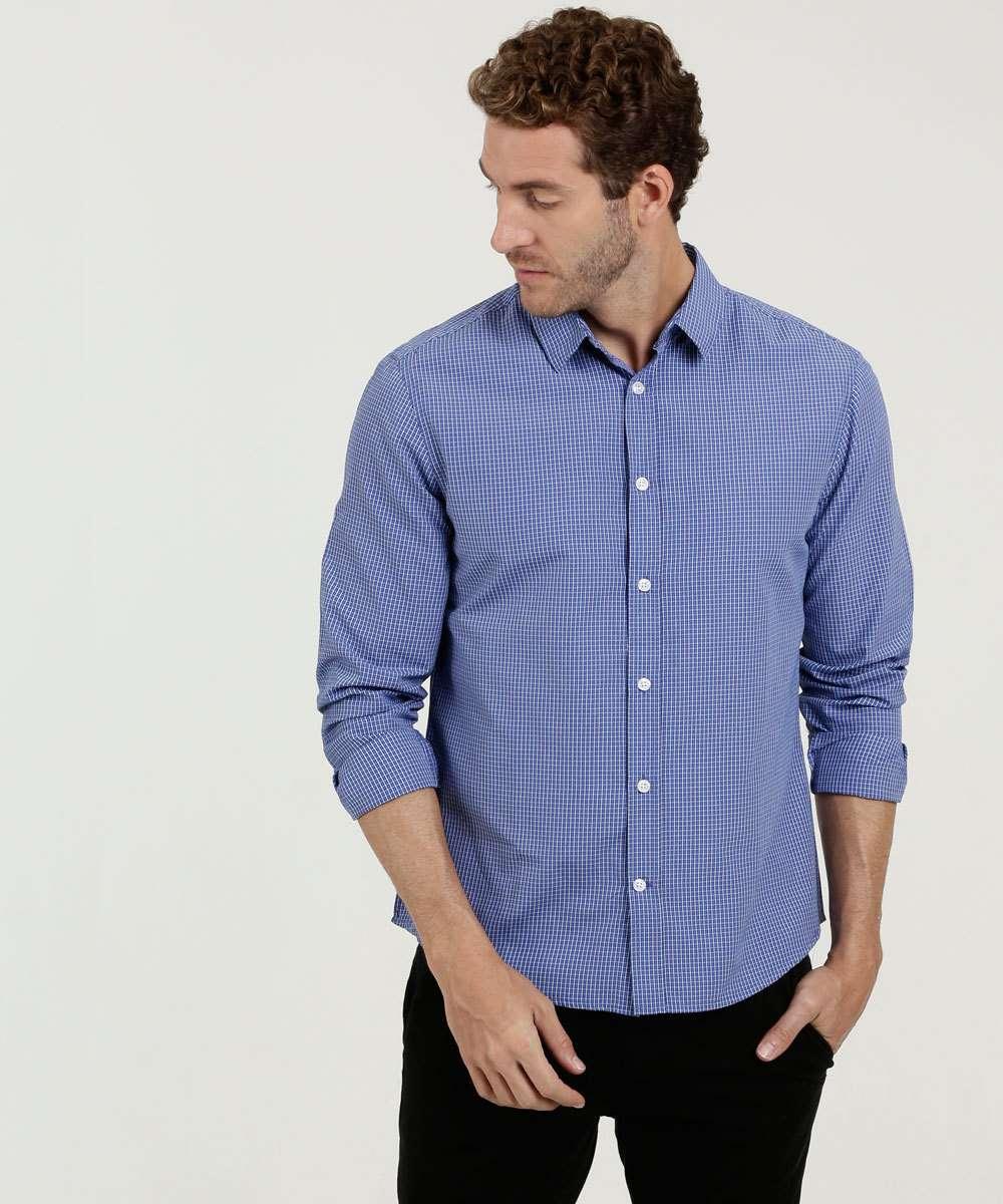 Camisa Masculina Estampa Quadriculada MR
