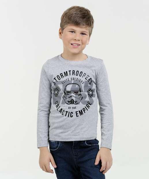 Image_Camiseta Infantil Stormtrooper Star Wars Manga Longa Disney