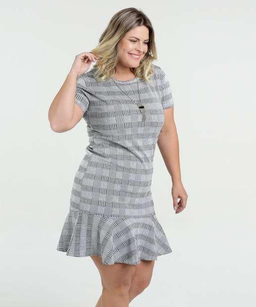 Image_Vestido Feminino Estampa Pied Poule Plus Size Marisa