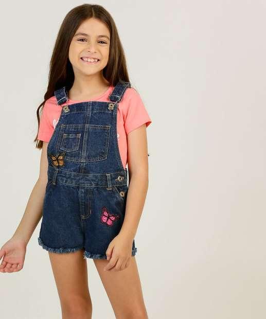 Image_Jardineira Infantil Jeans Patch Marisa Tam 4 a 10