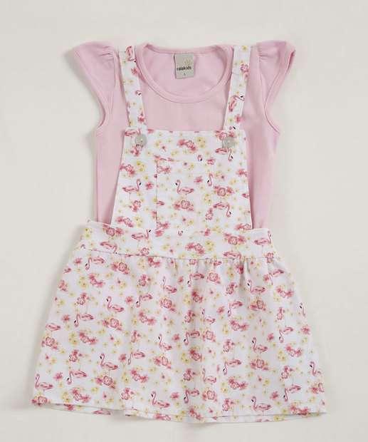 Image_Jardineira Infantil Flamingos Alças Finas Ralakids