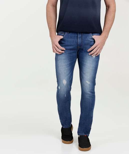 Image_Calça Masculina Jeans Skinny Destroyed MR