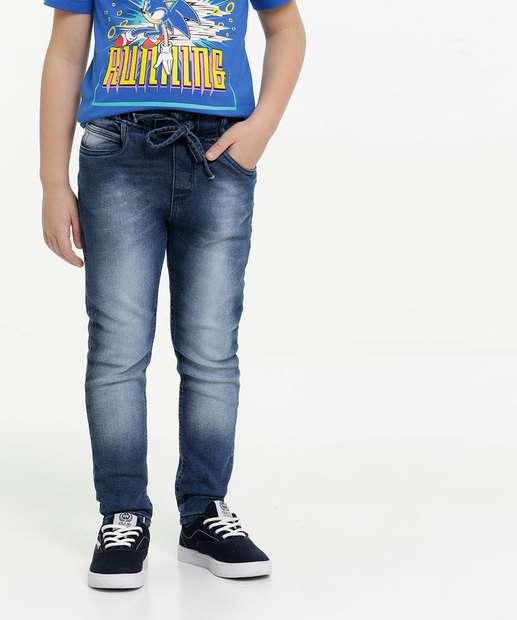 Image_Calça Infantil Jeans Bolsos Tam 4 ao 8