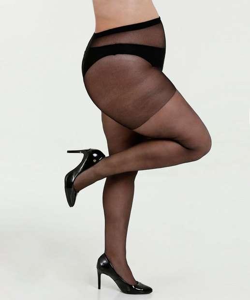 a06024fdb Meia Calça Feminina Clássica Fio 20 Plus Size Loba