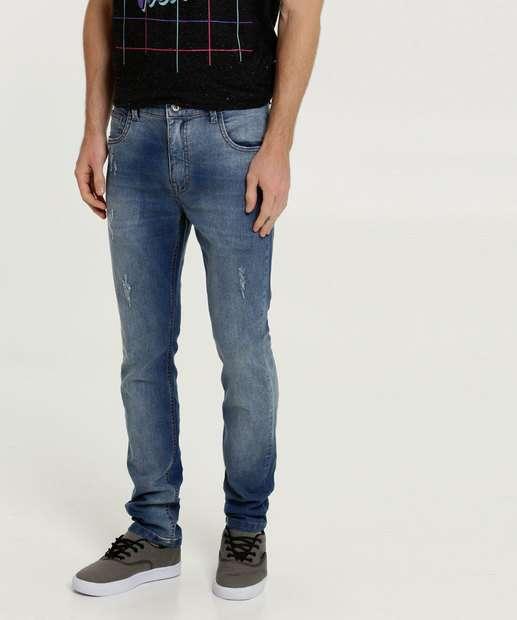 Image_Calça Masculina Jeans Puídos Slim MR