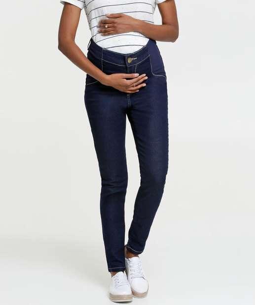 Image_Calça Jeans Skinny Feminina Gestante Razon