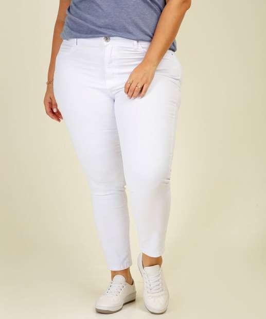 Image_Calça Plus Size Feminina Sarja Skinny Razon