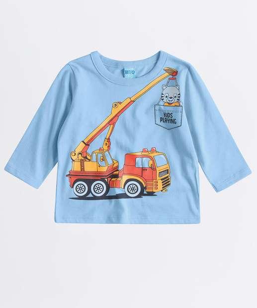 Image_Camiseta Infantil Estampa Caminhão Manga Longa
