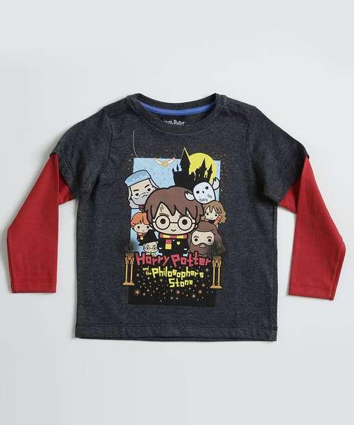 Image_Camiseta Infantil  Estampa Harry Potter Manga Longa Warnes Bros