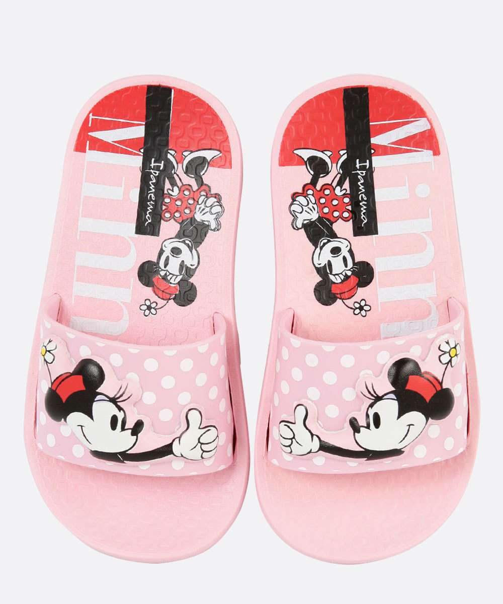Chinelo Infantil Slide Disney Minnie Ipanema