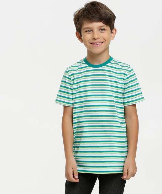 Image_Camiseta Infantil Listrada Manga Curta MR
