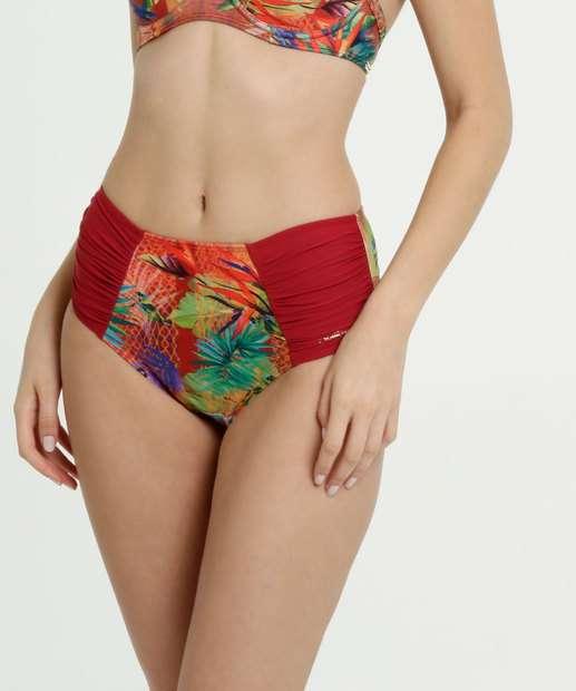 Image_Biquíni Feminino Avulso Cintura Alta Estampa Tropical Banho de Mar