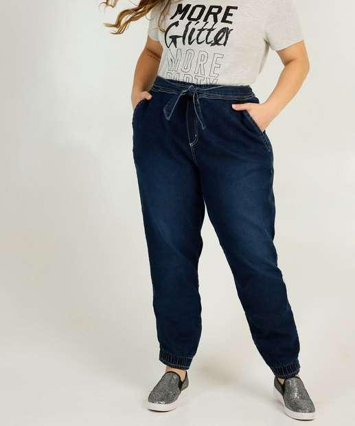 Image_Calça Plus Size Feminina Jogger Cargo Uber Jeans